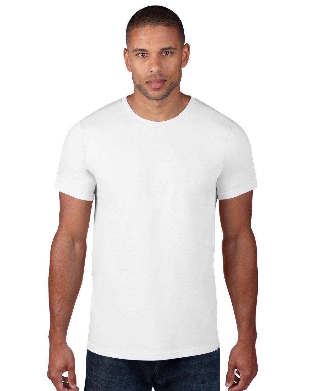 Anvil AN980 férfi kereknyakú pamut póló - Fehér ... 677be5c665