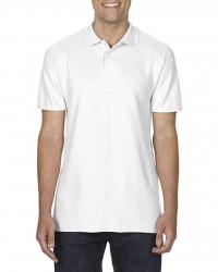 Gildan GI64800 férfi galléros pamut póló - Fehér 663fee1e71