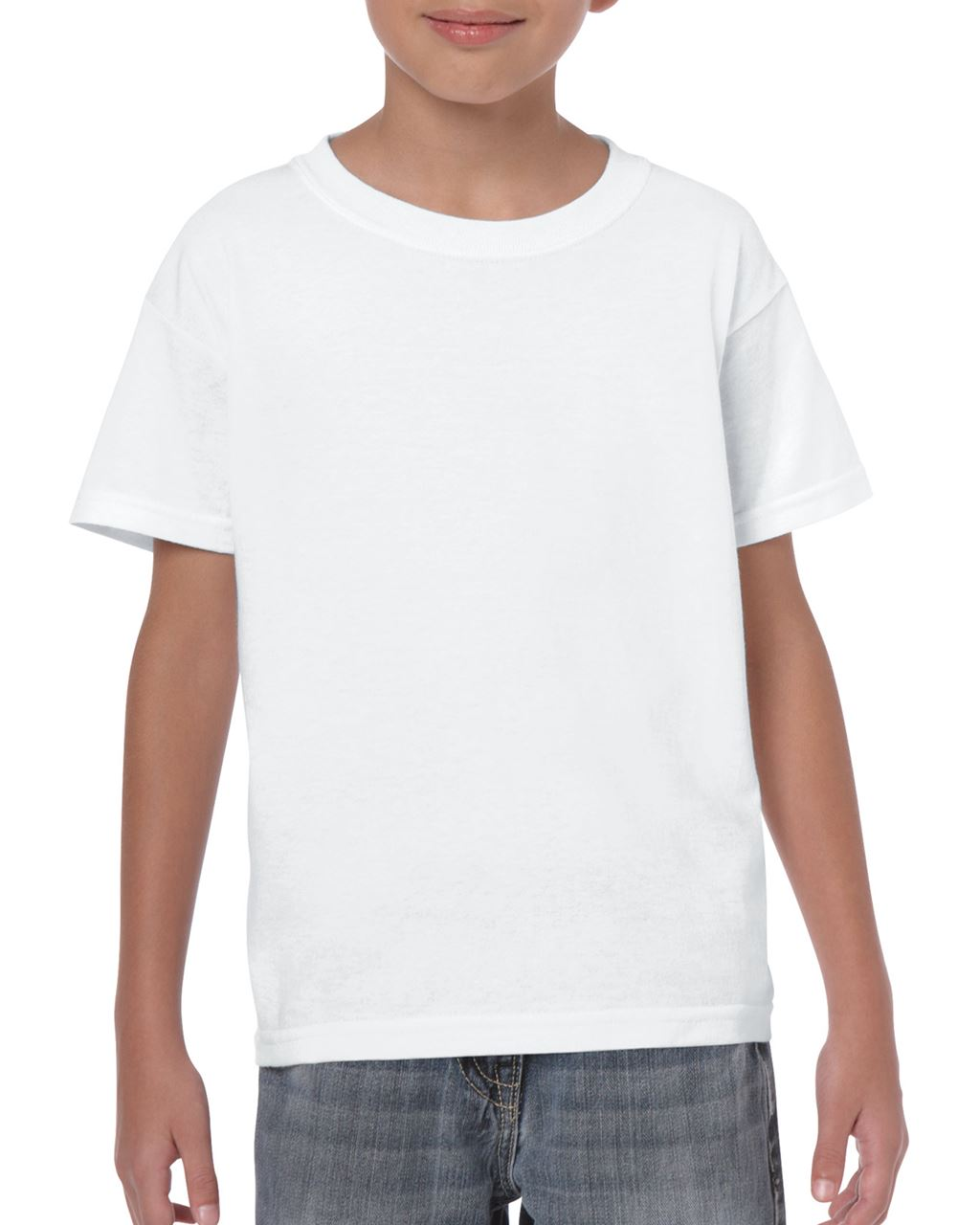 bcb74d5bf8 Gildan GIB5000 gyerek kereknyakú pamut póló - Fehér ...