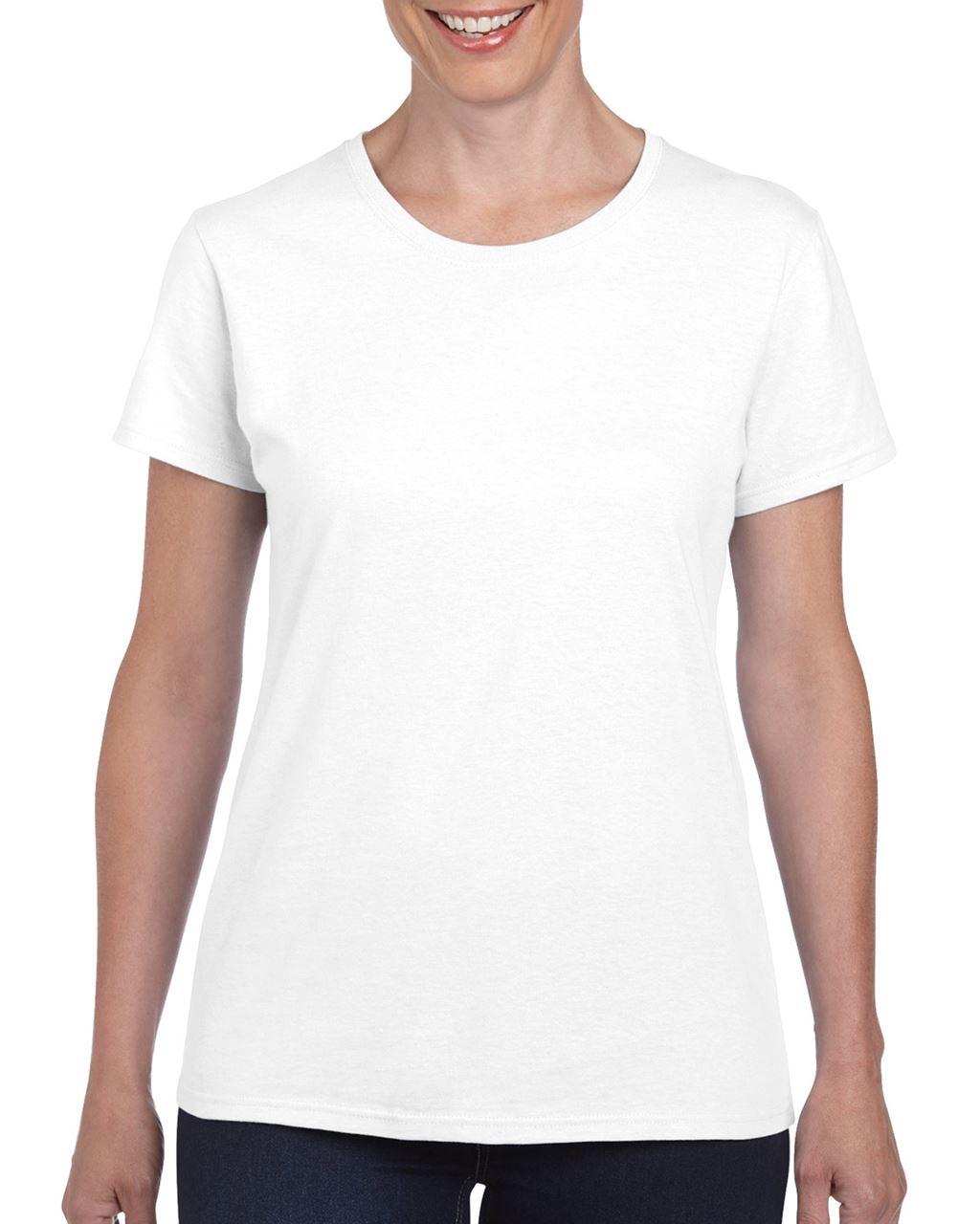 Gildan GIL5000 női kereknyakú pamut póló - Fehér ... ba62c6ce32