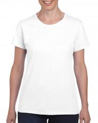 Gildan GIL5000 női kereknyakú pamut póló - Fehér 4f55964a39