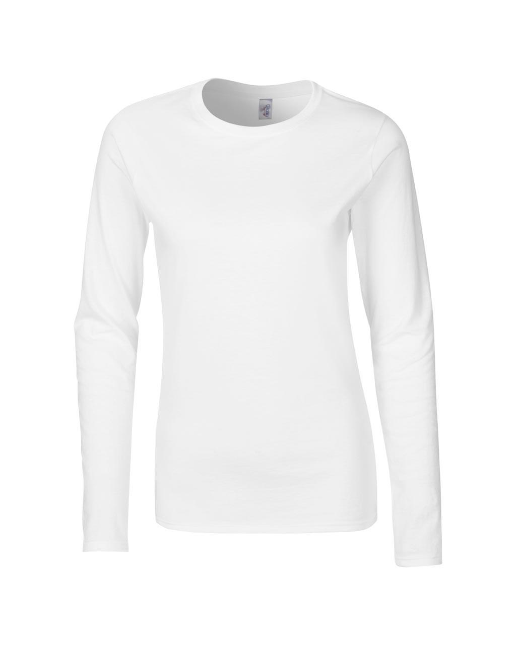 b02f284188 ... Gildan GIL64400 női hosszú ujjú pamut póló - Fehér. 1 ...