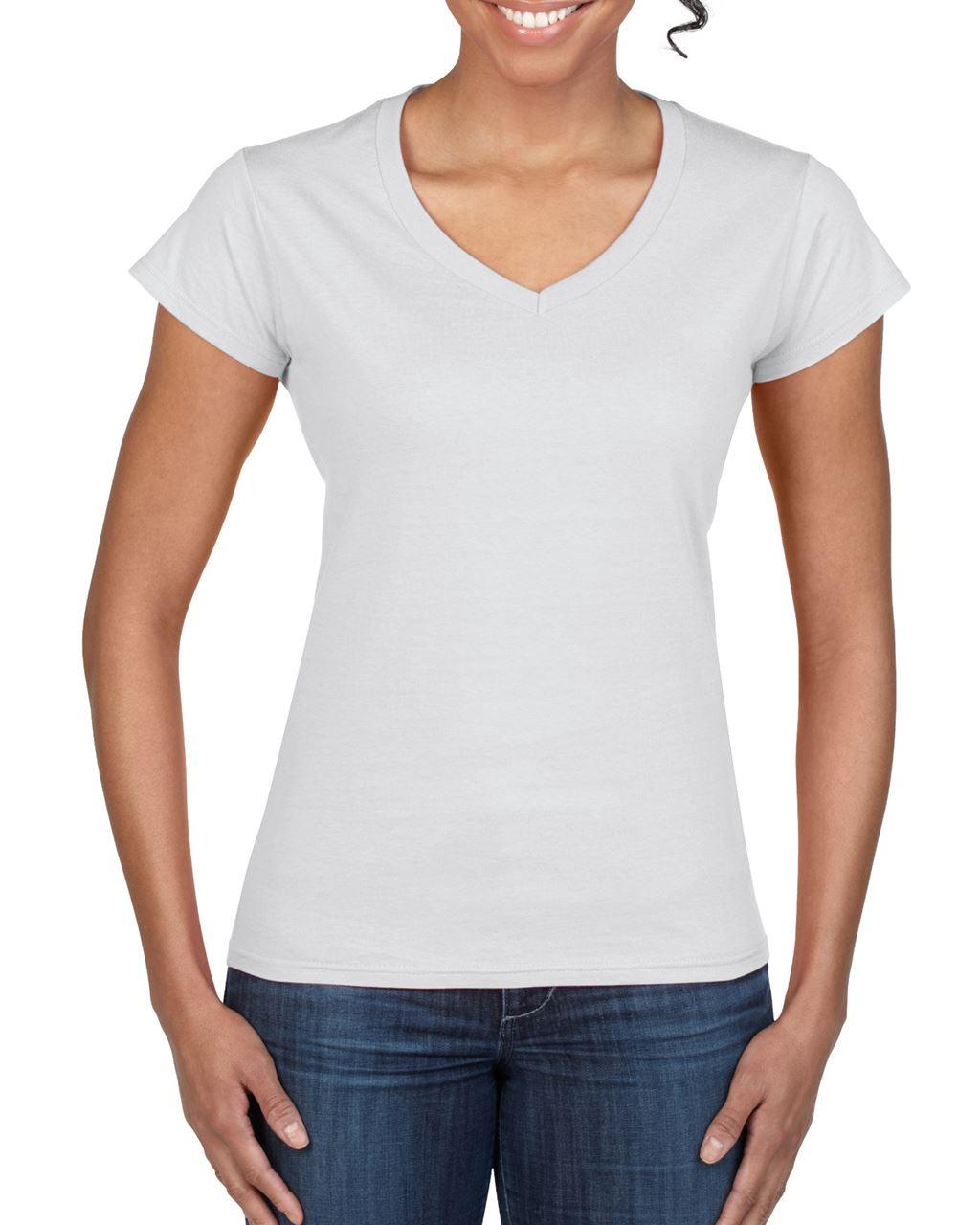 269458782e Gildan GIL64V00 női V-nyakú pamut póló - Fehér