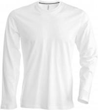 Kariban KA359 férfi hosszú ujjú pamut póló - Fehér ed9e3aca67