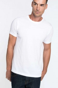 4dfaaad2c3 Kariban KA369 férfi kereknyakú prémium pamut póló - Fehér (*Címke nélküli!)