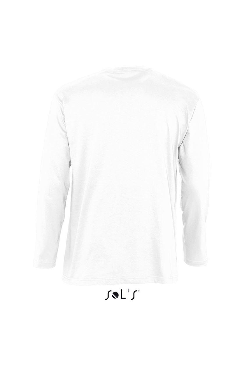 81ff171cff ... Sol's SO11420 férfi hosszú ujjú pamut póló - Fehér. 1; 2; 3